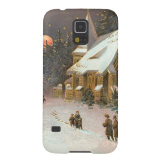 Going To Church Tree Snow Moon Stars Galaxy S5 Cover