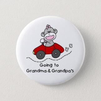 Going to Grandma and Grandpas 6 Cm Round Badge