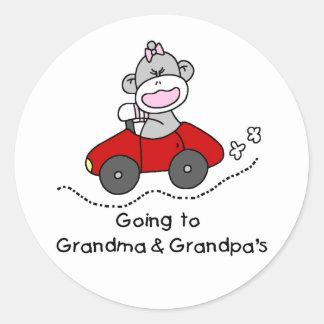 Going to Grandma and Grandpas Classic Round Sticker
