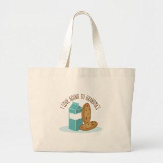 Going To Grandmas Large Tote Bag