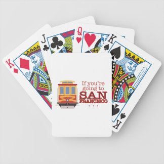 Going To San Francisco Bicycle Playing Cards