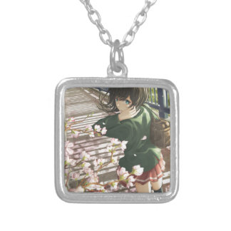 Going To School Silver Plated Necklace