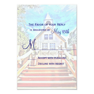 Going to the Chapel Country Wedding RSVP Cards 9 Cm X 13 Cm Invitation Card