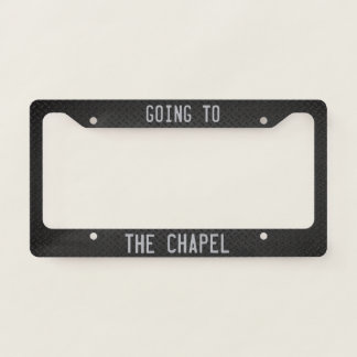Going to the Chapel! Licence Plate Frame