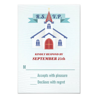 Going to the Chapel Wedding RSVP Card 9 Cm X 13 Cm Invitation Card