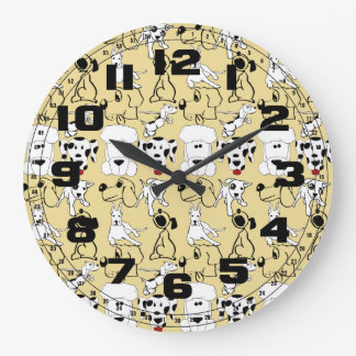 Going to the Dogs Pet Lovers Vet Dog Gifts Large Clock