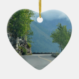 Going to the Sun Road Ceramic Ornament