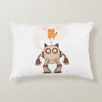 Going To Try Science Funny Robot Cat Decorative Cushion