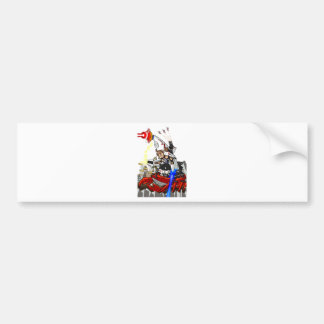 Going up to the capital! Worldwide master English Bumper Sticker