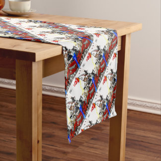 Going up to the capital! Worldwide master English Short Table Runner