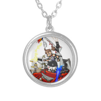 Going up to the capital! Worldwide master English Silver Plated Necklace