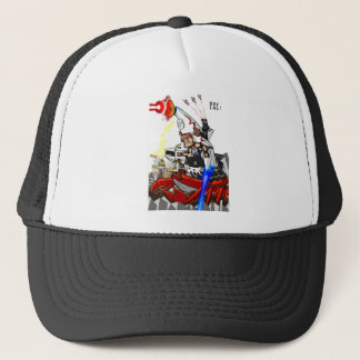 Going up to the capital! Worldwide master English Trucker Hat