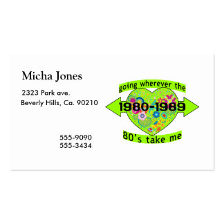 Going Wherever The 80's Take Me Double-Sided Standard Business Cards (Pack Of 100)