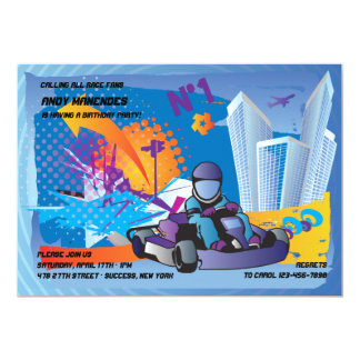 GoKart Invitations