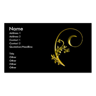 gold2 pack of standard business cards