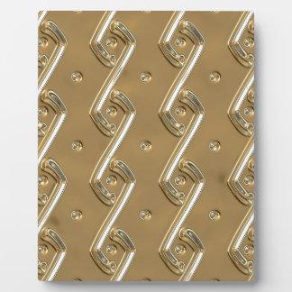 gold #16 plaque
