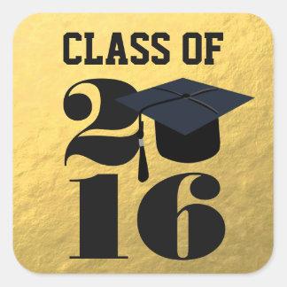 Gold 2016 Grad Cap | Graduation Sticker