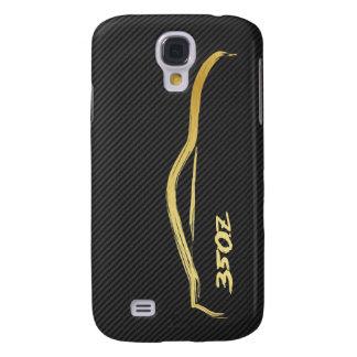 Gold 350z Brush Stroke Samsung Galaxy S4 Covers