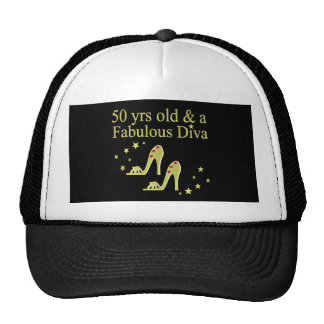 GOLD 50 & FABULOUS DIVA DESIGN CAP