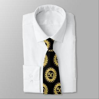 Gold 50th  Anniversary Tie