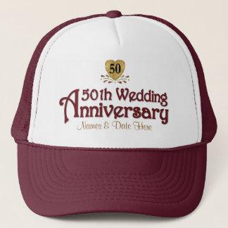 Gold 50th Anniversary Trucker Hat