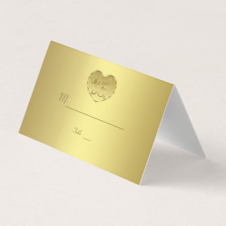 Gold 50th Wedding Anniversary We still DO Place Card