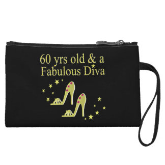 GOLD 60 YRS OLD AND A FABULOUS DIVA WRISTLET CLUTCH