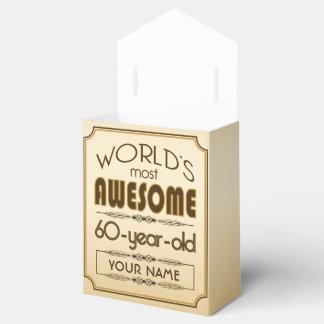 Gold 60th Birthday Celebration World Best Fabulous Favour Box