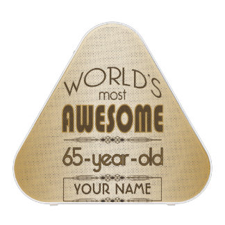 Gold 65th Birthday Celebration World Best Fabulous