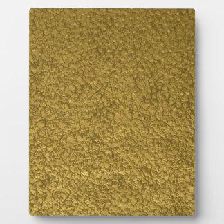 gold #6 plaque
