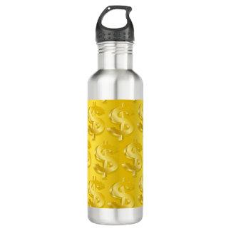 $ Gold $ 710 Ml Water Bottle