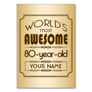 Gold 80th Birthday Celebration World Best Fabulous Card