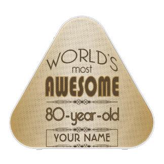 Gold 80th Birthday Celebration World Best Fabulous Speaker