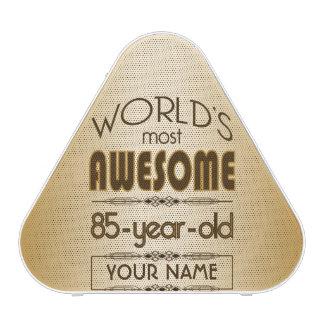 Gold 85th Birthday Celebration World Best Fabulous