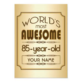 Gold 85th Birthday Celebration World Best Fabulous Card