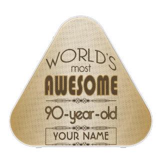 Gold 90th Birthday Celebration World Best Fabulous