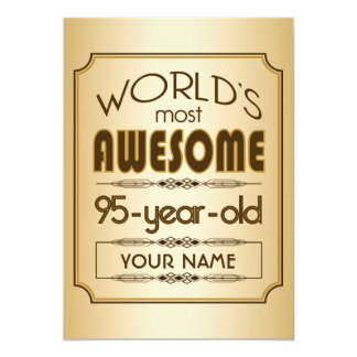 Gold 95th Birthday Celebration World Best Fabulous Cards