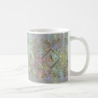 gold a initial coffee mug