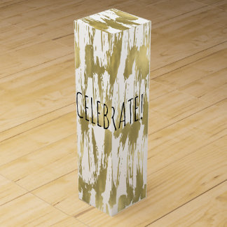 Gold Abstract Celebrate Wine Gift Box