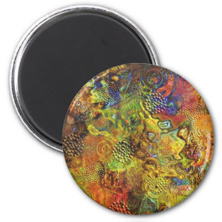 Gold Abstract Magnet