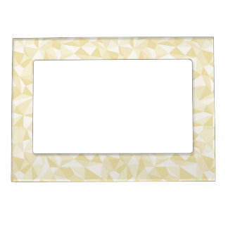 Gold Abstract Mosaic Pattern Frame Magnet