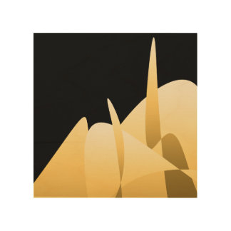 Gold Abstract Wood Wall Art