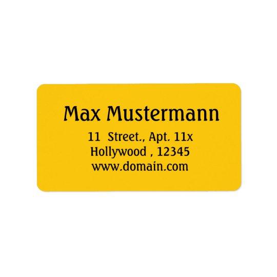 gold Address Label