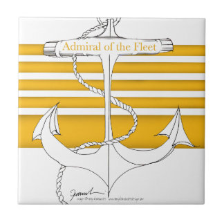 gold admiral of the fleet, tony fernandes ceramic tile