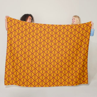 Gold African King Pattern Fleece Blanket