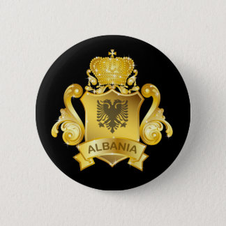 Gold Albania 6 Cm Round Badge