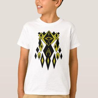 Gold Alien Robot Graphics T-Shirt