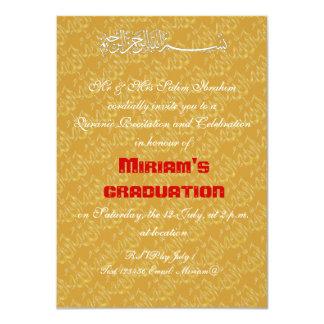 Gold Allah muslim celebration 11 Cm X 16 Cm Invitation Card