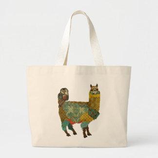 Gold Alpaca Teal Owl Bag