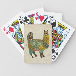 Gold Alpaca & Teal Owl Card Deck